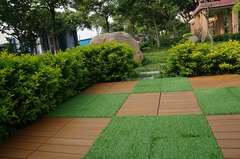 JIABANG flooring artificial grass tiles hot-sale for garden-5