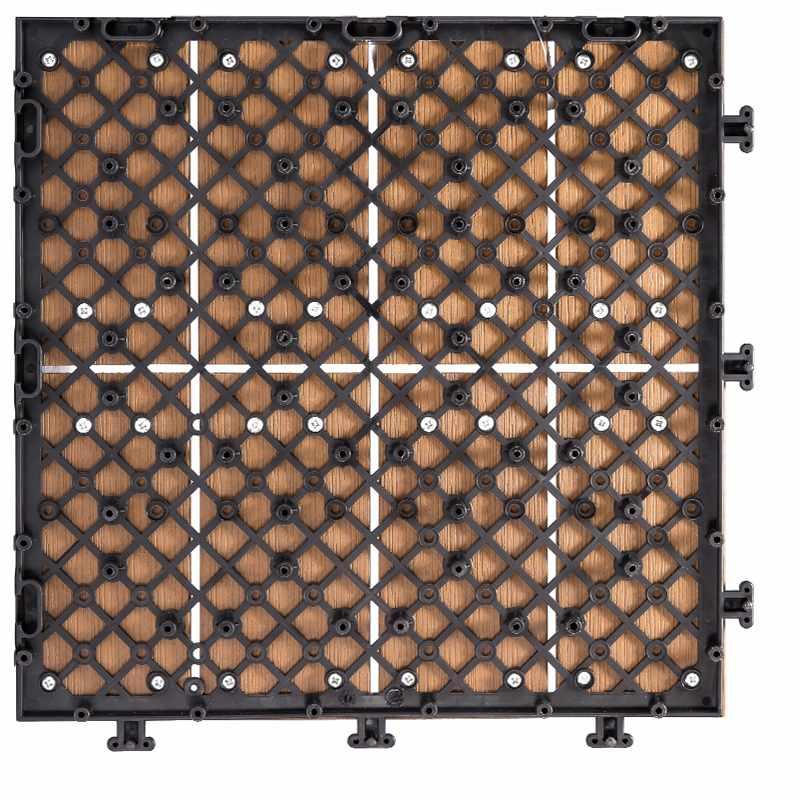 JIABANG Garden floor woodland plastic deck tiles PS8P30312TKH Plastic Deck Tile image67