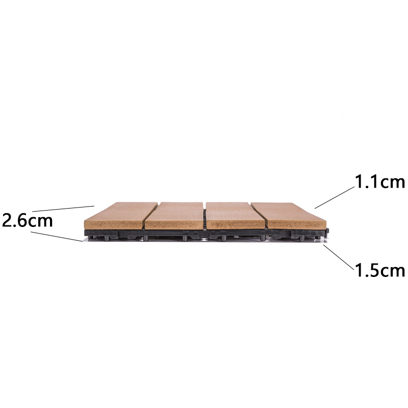 JIABANG light-weight plastic decking tiles anti-siding garden path-3