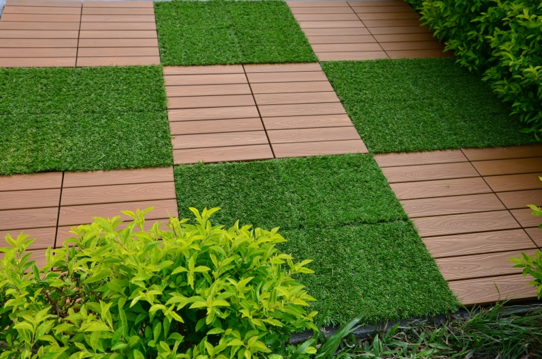 Garden floor woodland plastic deck tiles PS8P30312TKH-6