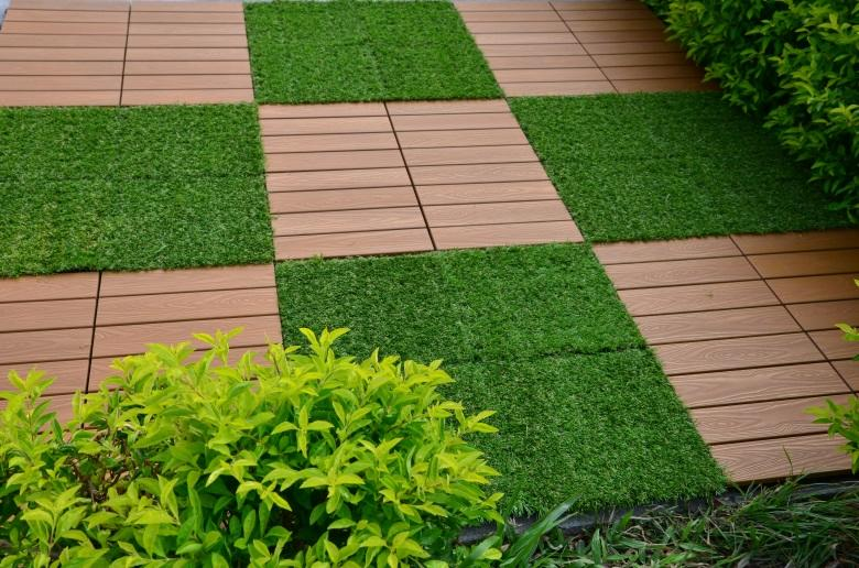 JIABANG light-weight plastic decking tiles anti-siding garden path