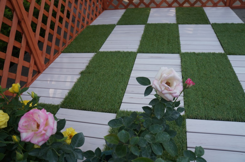 Garden floor woodland plastic deck tiles PS8P30312TKH-7