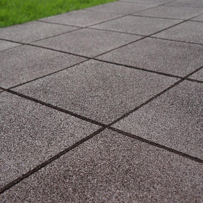 Outdoor flooring rubber patio tile XJ-SBR-DBR001