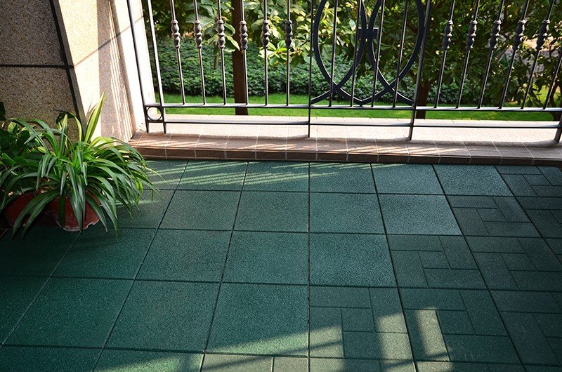 Playground rubber composite Tiles XJ-SBR-GN001-5