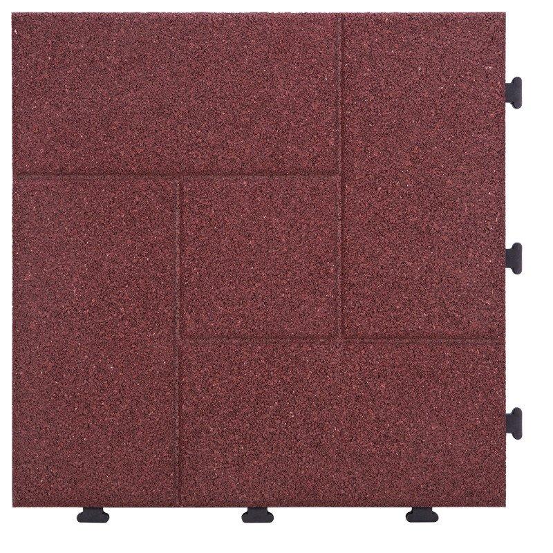 JIABANG Interlocking Porch Flooring rubber tile XJ-SBR-RD002 SBR Rubber Deck Tile image63