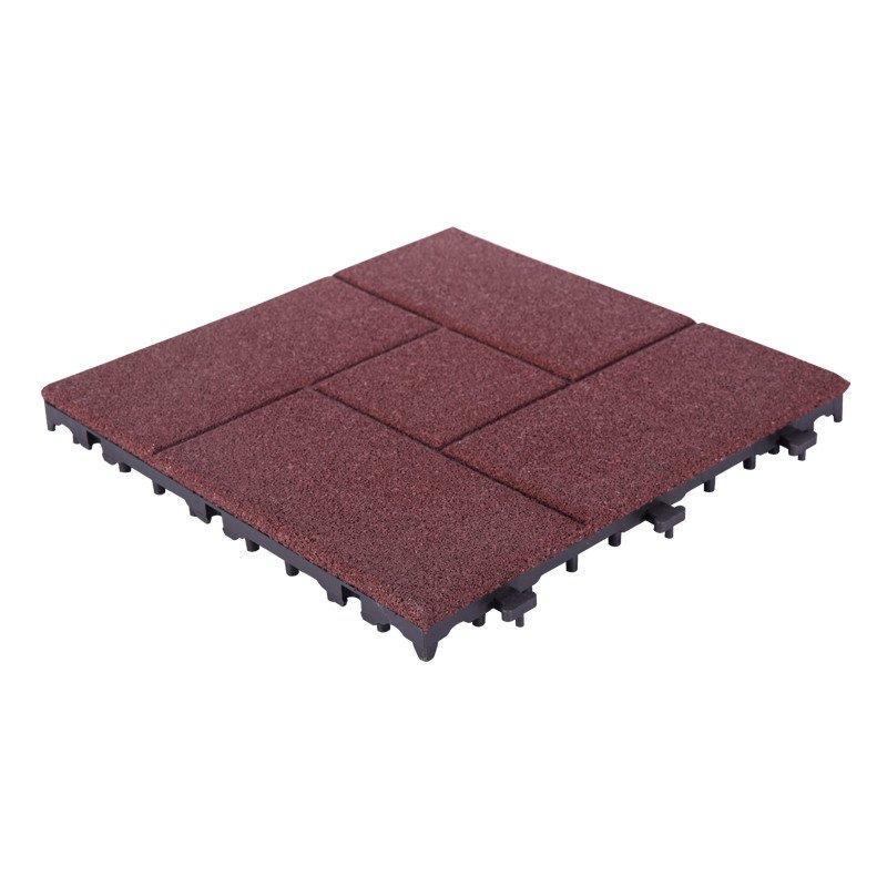 Interlocking Porch Flooring rubber tile XJ-SBR-RD002