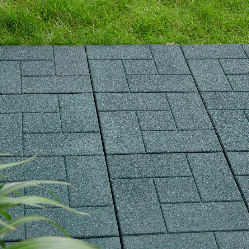 JIABANG Decking square rubber patio tile XJ-SBR-GN002 SBR Rubber Deck Tile image62