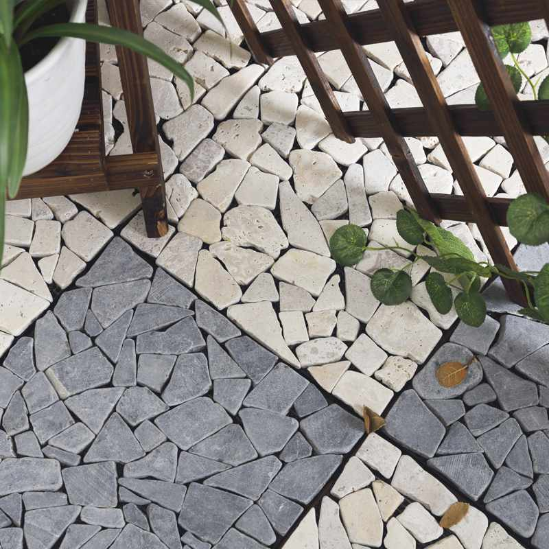 JIABANG Front porch DIY natural stone tiles TTLNP-GY-YL Travertine Deck Tile image61