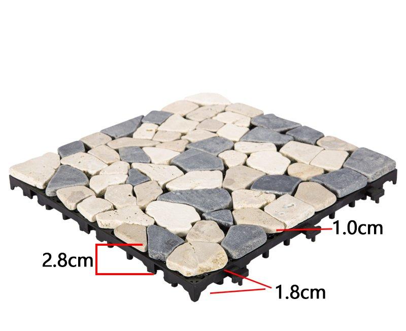 JIABANG limestone tumbled travertine floor tiles high-quality for garden decoration-3