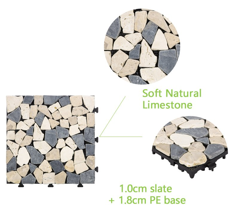 Front porch DIY natural stone tiles TTLNP-GY-YL-4