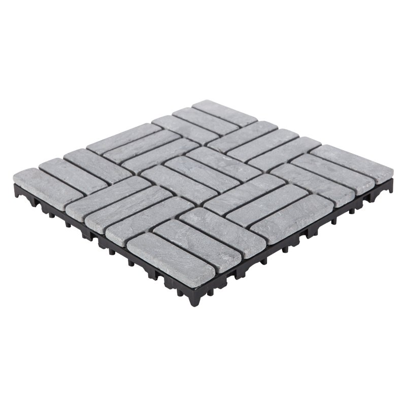 JIABANG Easy install decking tile 30cm for playground TTS27P-GY Travertine Deck Tile image59