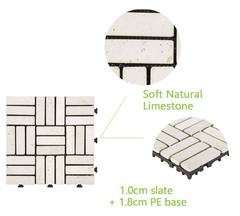 DIY yellow stone interlocking floor for residence TTS27P-YL-4