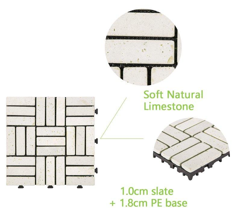 DIY yellow stone interlocking floor for residence TTS27P-YL