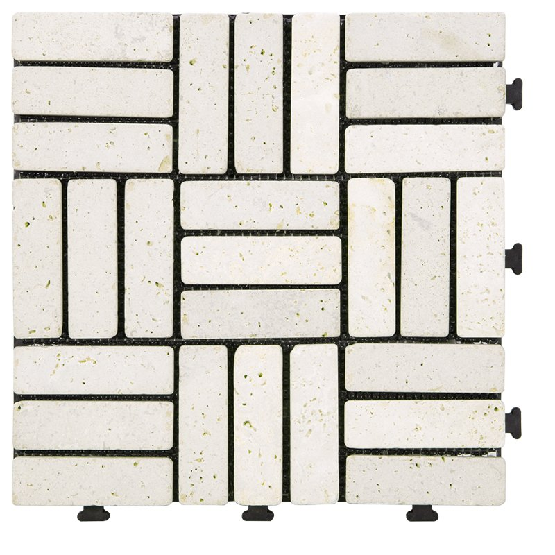 JIABANG DIY yellow stone interlocking floor for residence TTS27P-YL Travertine Deck Tile image57
