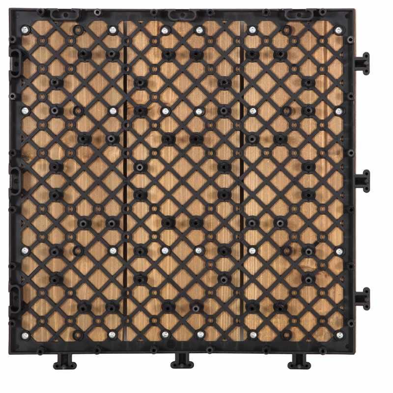JIABANG DIY tilesinterlocking solid wood flooring for balcony S3P3030PH Fir Wood Deck Tile image55