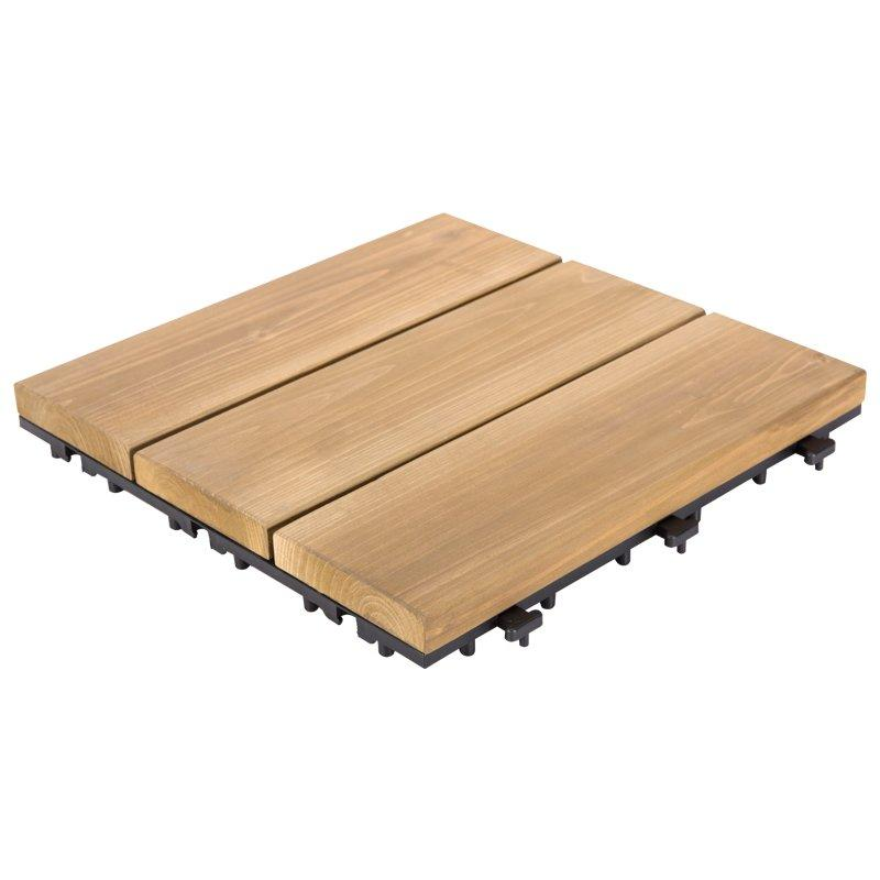 DIY tiles interlocking solid wood flooring for balcony S3P3030PH