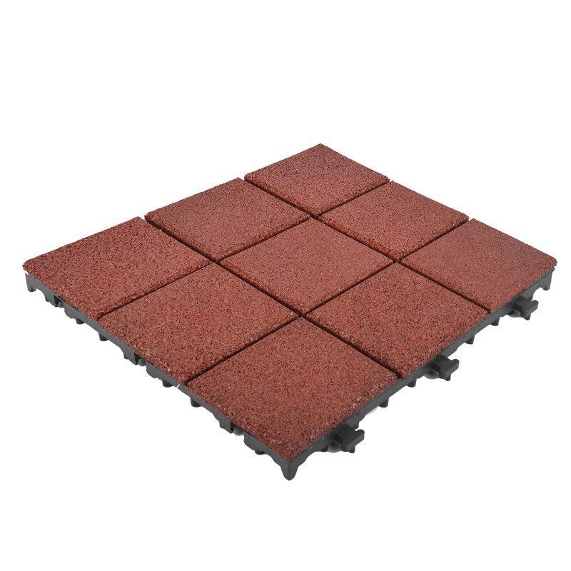 Interlocking Outdoor gymnastics rubber decking tile XJ-SBR-RD004