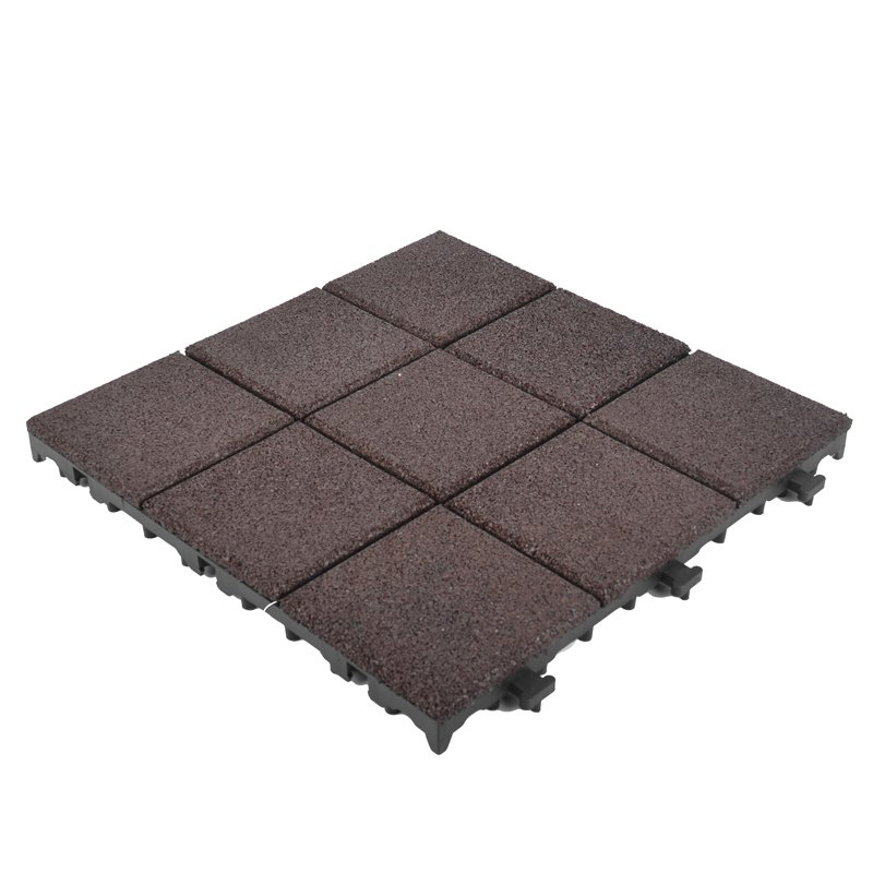JIABANG Exterior Floor rubber interlock floor XJ-SBR-DBR004 SBR Rubber Deck Tile image45