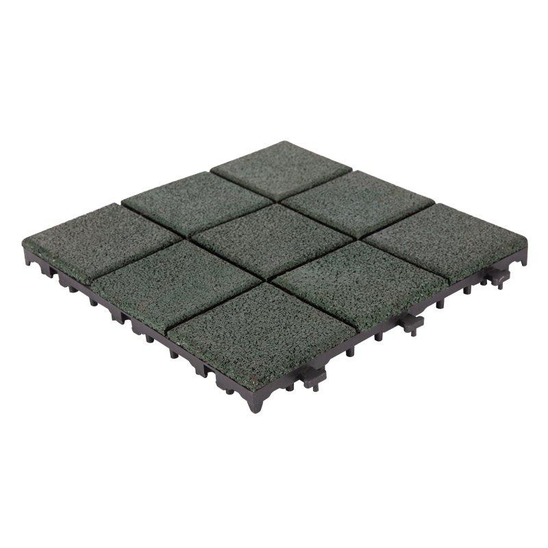 factory direct snap together rubber deck tiles XJ-SBR-GN004