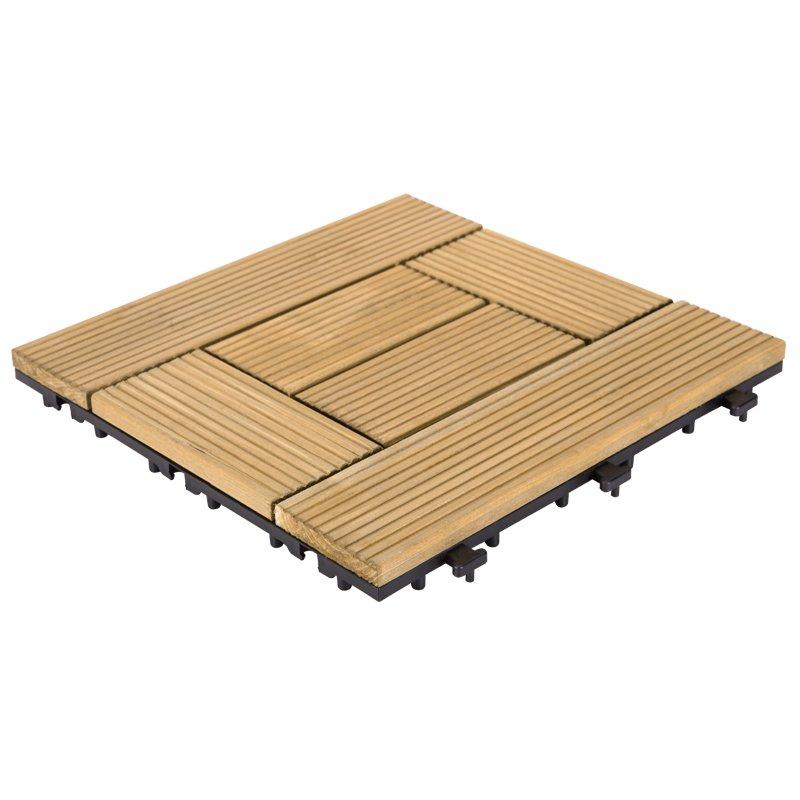 JIABANG 12x12 natural deck flooringwood tiles new design  S6P3030BL Fir Wood Deck Tile image41