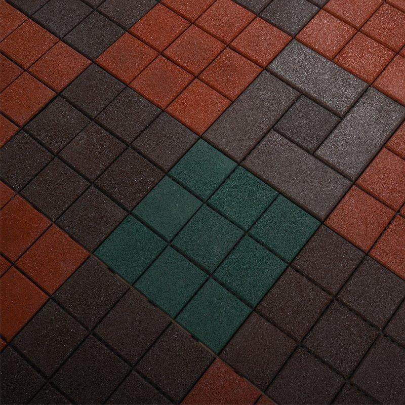 JIABANG Interlocking Patio rubber floor tiles XJ-SBR-DBR003 SBR Rubber Deck Tile image42