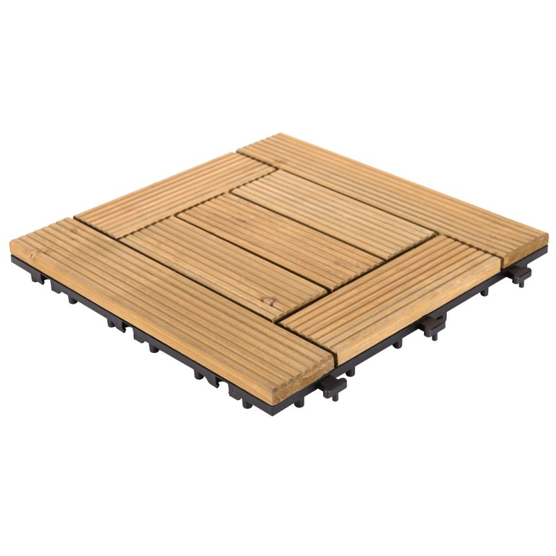 JIABANG DIY wood floors interlocking tiles for balcony S7P3030BL Fir Wood Deck Tile image39