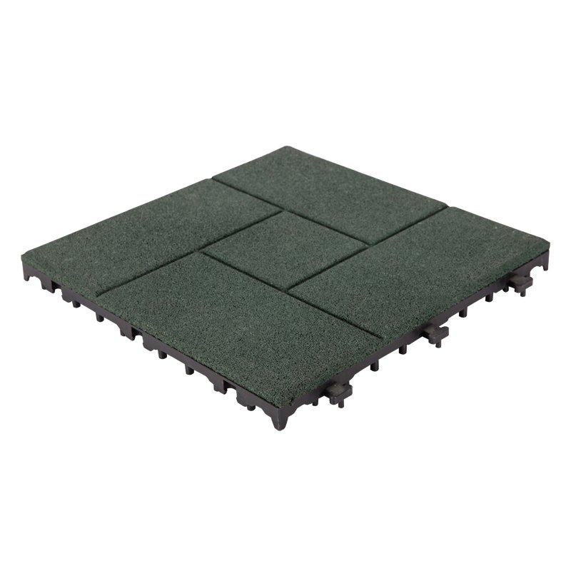 Outside Flooring sport court rubber tile XJ-SBR-GN003