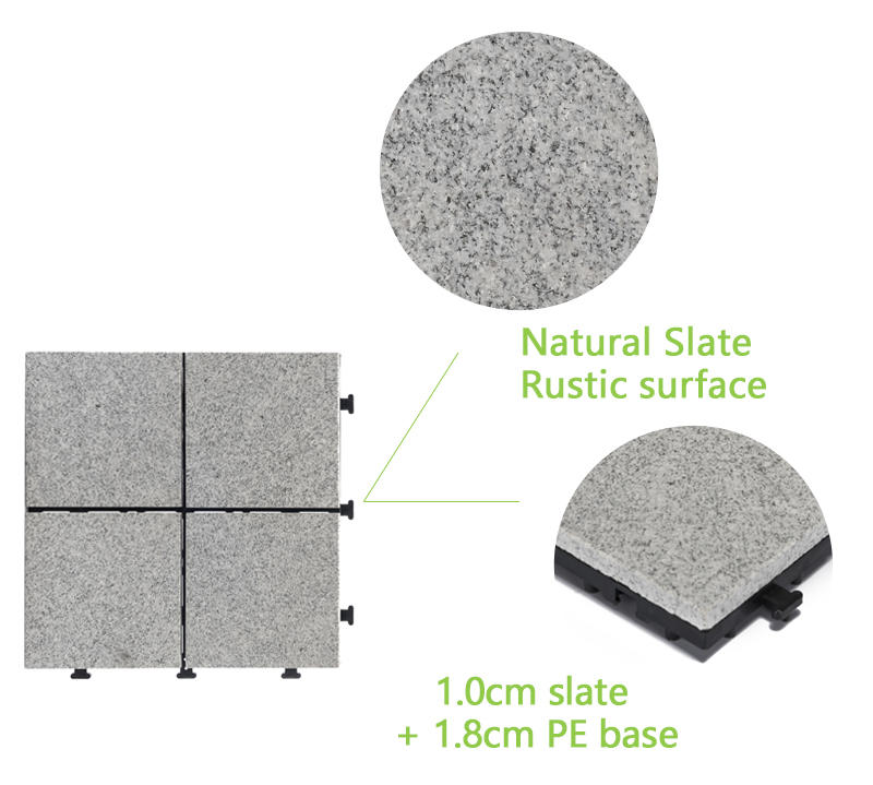 gray granite tile durable for porch construction JIABANG