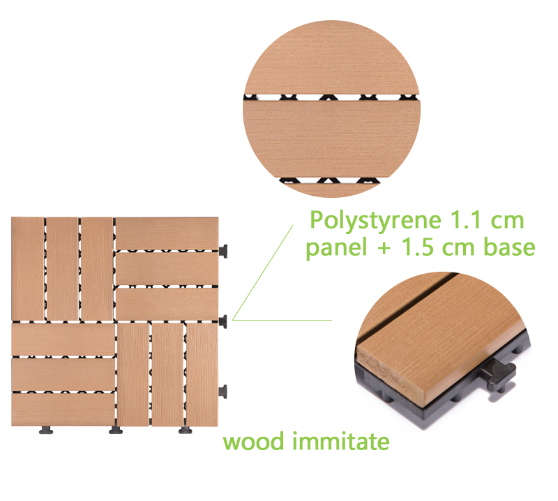 Woodland plastic deck tiles PS12P30312TKC-4