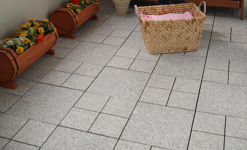 deck tile over patio