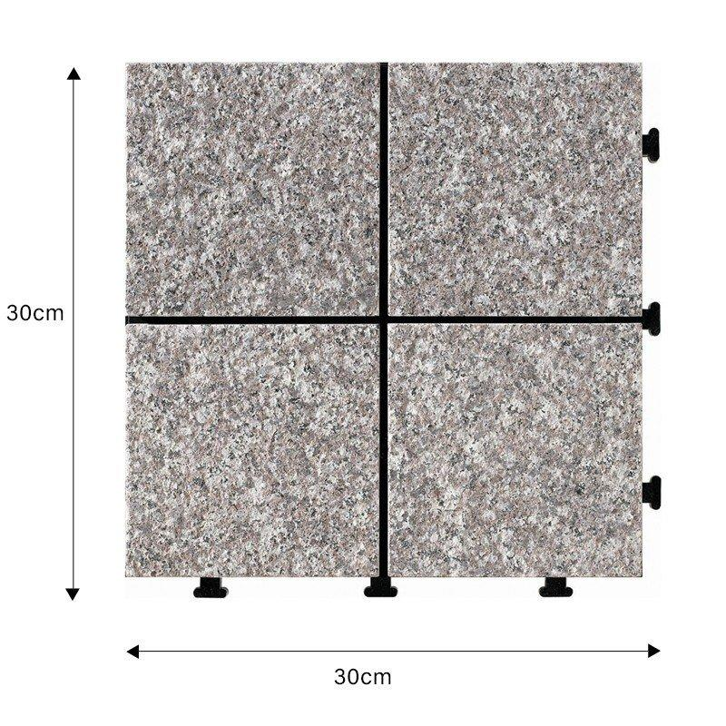 30x30cm exterior porch flooring flamed granite floor tiles JIABANG Brand