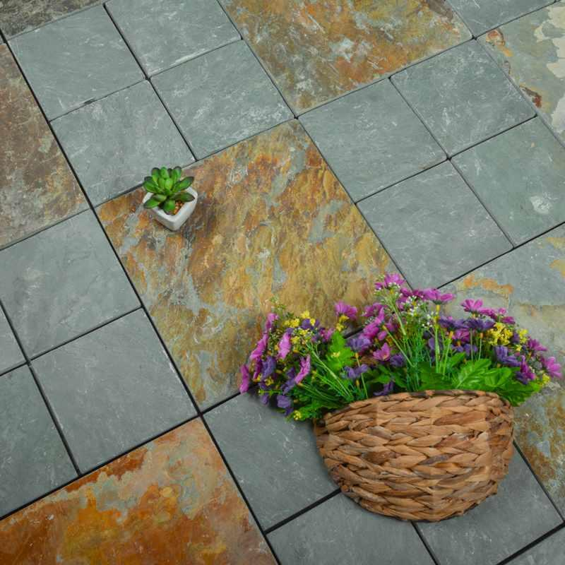 Outdoor natural deck tile slate for swimming pool surround JBD001