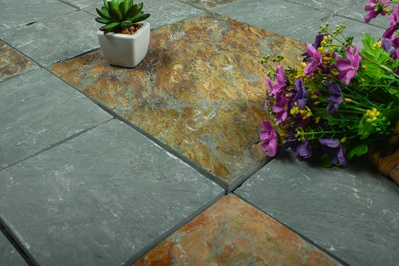 interlocking slate tiles for sale stone garden decoration for patio-8