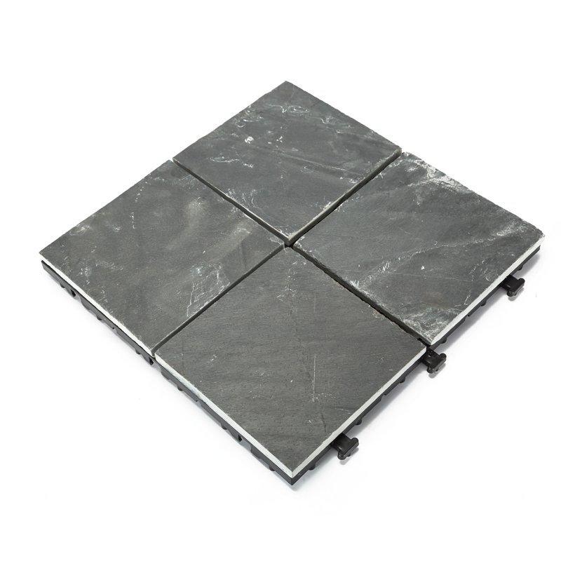 DIY real stones slate interlocking floors for patio JBT002