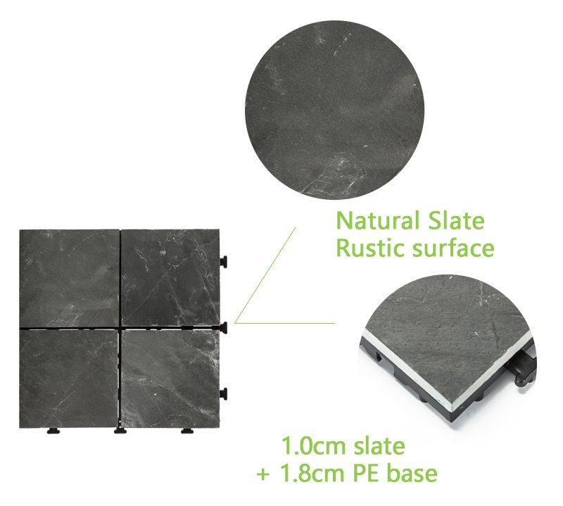JIABANG waterproofing slate deck basement decoration for patio-4