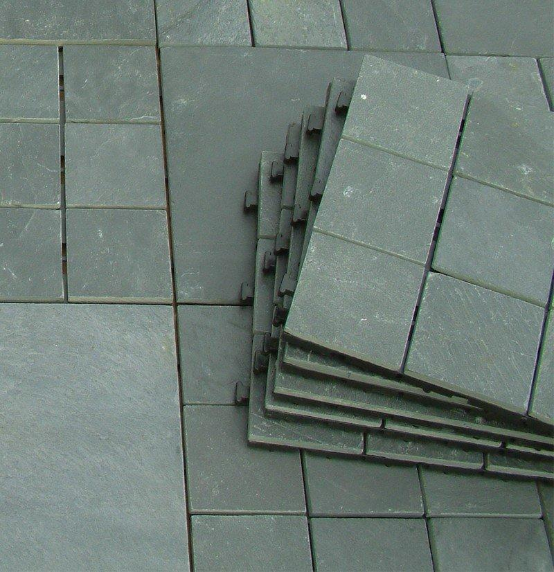 deck interlocking stone deck tiles slip slate JIABANG company