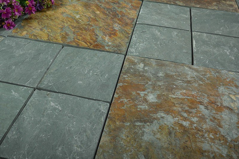 Outdoor natural interlocking slate stone tile online JBT003-8