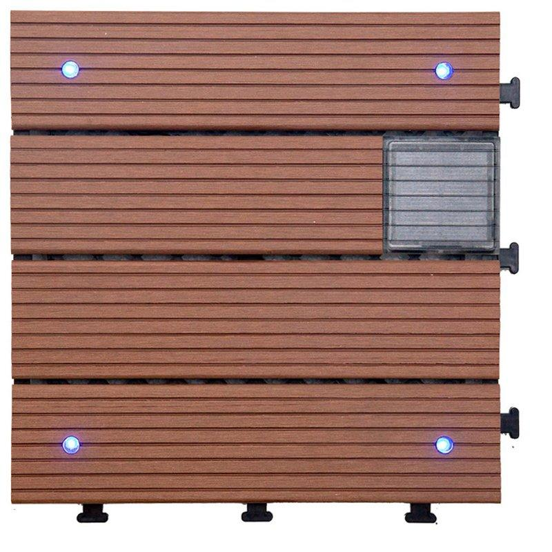 Garden lamp solar light deck tiles SSLB-WPC30 BP