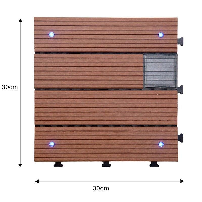 hot-sale snap together deck tiles eco-friendly decorative garden lamp