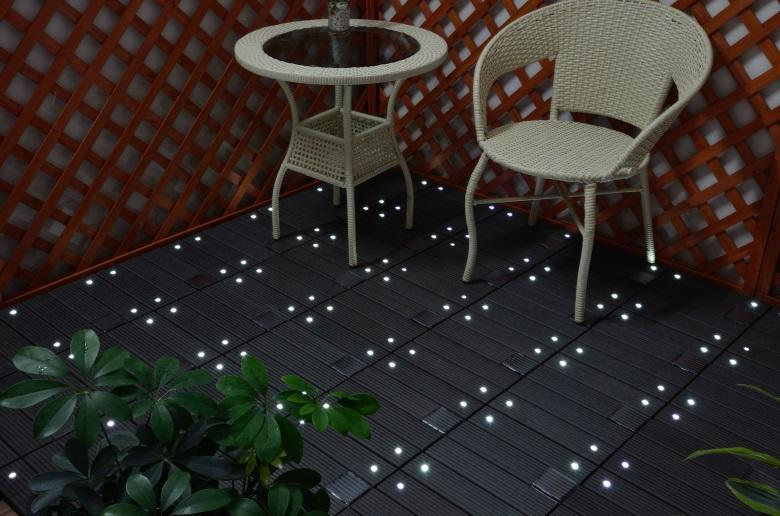 patio deck tiles wpc garden lamp