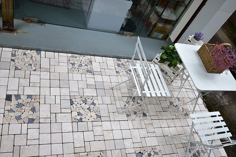 Front porch DIY natural stone tiles TTLNP-GY-YL-6