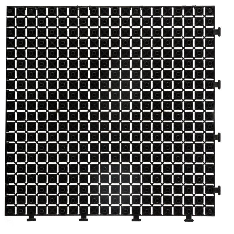 Non slip bathroom floor plastic mat JBPL3030N black