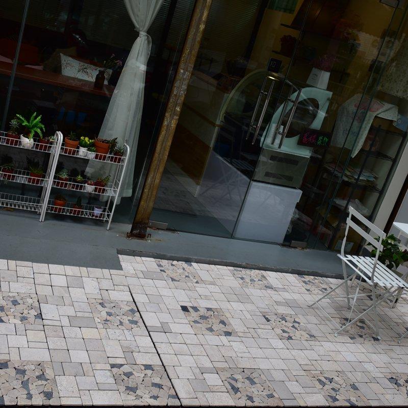 JIABANG Interlocking deck tiles travertinestone for outdoor flooring TTS9P-YL Travertine Deck Tile image60