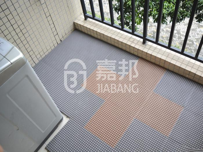 anti-sliding plastic decking tiles anti-sliding JIABANG