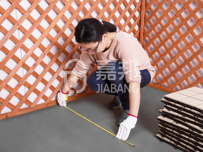 Non slip bathroom floor plastic mat JBPL3030N black-8