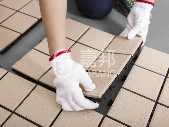 decorative plastic garden tiles anti-sliding kitchen flooring