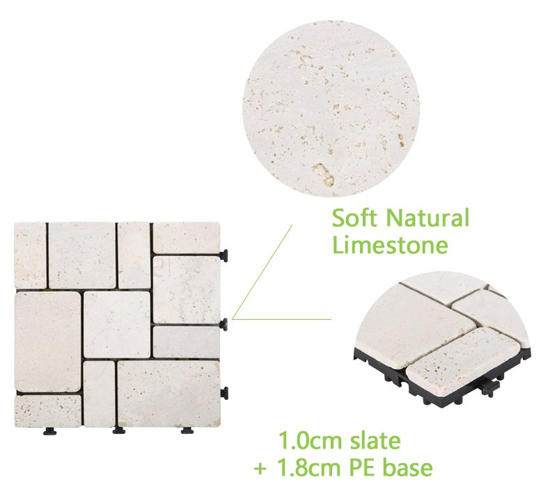 JIABANG outdoor silver travertine tile wholesale for garden decoration-4
