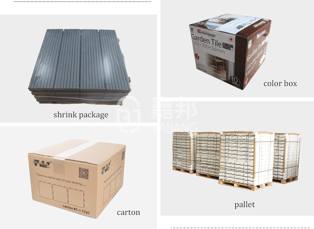 anti-sliding plastic decking tiles anti-sliding JIABANG-19