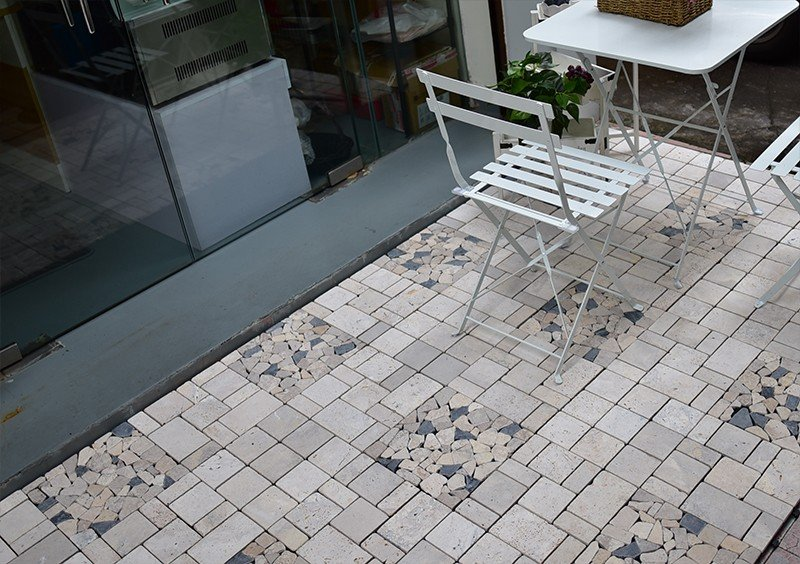 JIABANG limestone tumbled travertine floor tiles at discount for playground-6