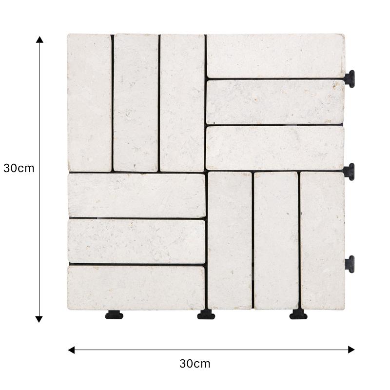 JIABANG interlocking travertine pool tiles at discount for garden decoration-1